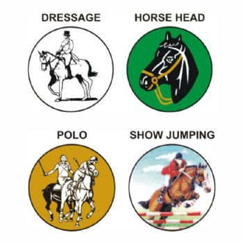 Horse Riding pk of 5 25mm centres-